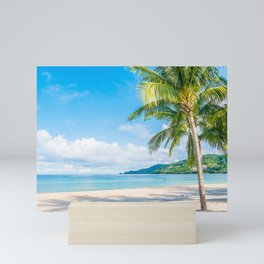 Tropical beach background Mini Art Print