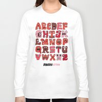 letters Long Sleeve T-shirts featuring Angry Letters by Chris Piascik
