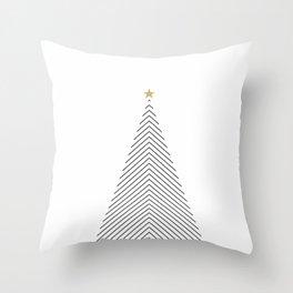 Minimal Christmas Tree #society6 #decor #buyart Throw Pillow