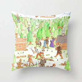 Locals Only- Danville Throw Pillow