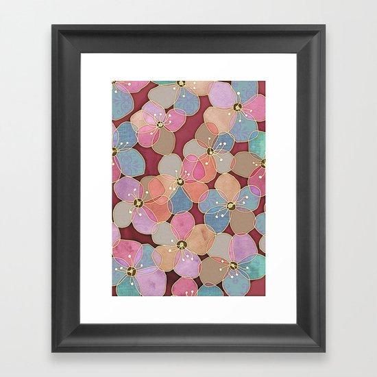 It's Always Summer Somewhere - translucent poppy doodle Framed Art Print
