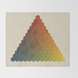 Lichtenberg-Mayer Colour Triangle vintage variation, Remake of Mayers original idea of 12 chambers Throw Blanket