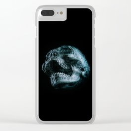 Analogue Glitch Skull Clear iPhone Case