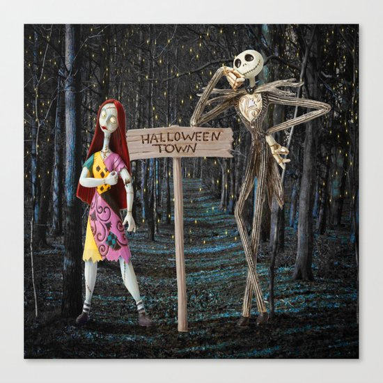 Halloween Town   Jack   Sally   Christmas   Nightmare Canvas Print