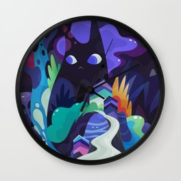 dark-side cats Wall Clock