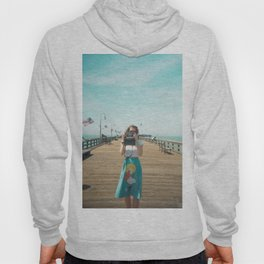 Camera Girl on the California Coast - Holga Photo Hoody
