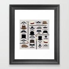 Moustache Styles Framed Art Print