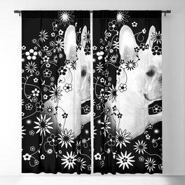Flower Goddess Frenchie Blackout Curtain