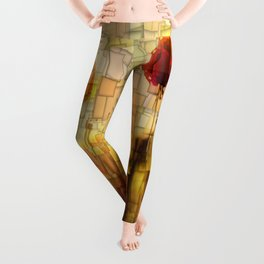 Poppies in the Sun Mosaic Leggings