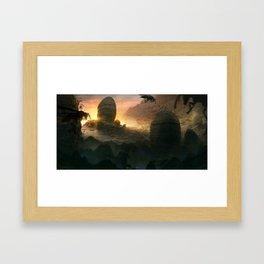 Nest of the mountain wasps Framed Art Print