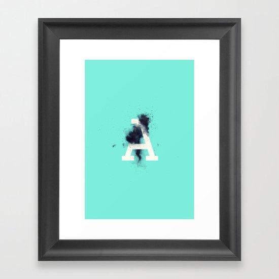A is for Entropy Framed Art Print