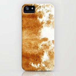 Golden Brown Cow Hide iPhone Case
