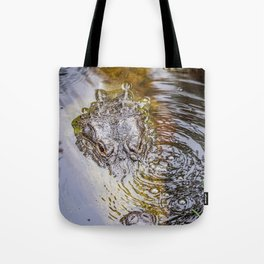 Gator Blowing Bubbles Tote Bag