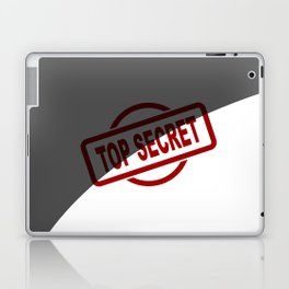 Top Secret Half Covered Ink Stamp Laptop & iPad Skin