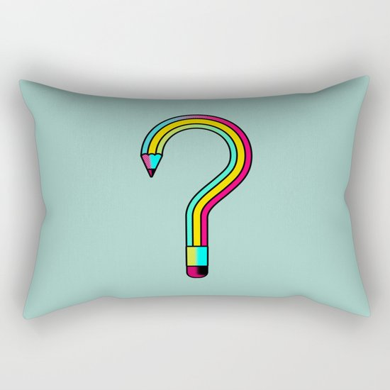 2B or not 2B? Rectangular Pillow