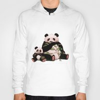 pandas Hoodies featuring Pandas by J ō v