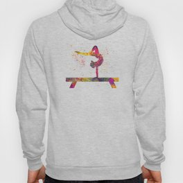 Rhythmic gymnastics competition in watercolor 05 Hoody