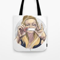 silent Tote Bags featuring Silent by Katarzyna Urbaniak
