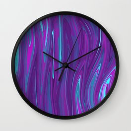 Pink, Purple, and Blue Waves 2 Wall Clock