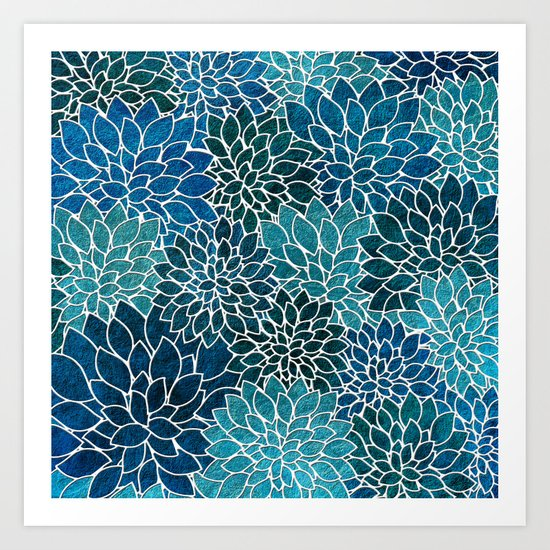 Floral Abstract 25 Art Print