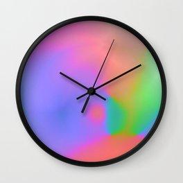 Iridescent Neon Rainbow Background No.1 Wall Clock