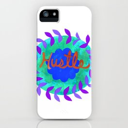 Hustle-Teal iPhone Case