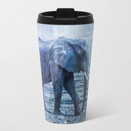 The Elephants Journey blue moon Travel Mug