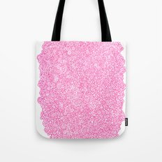Pink Swirly Doodle Tote Bag