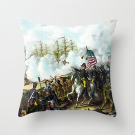 Andrew Jackson -- Battle Of New Orleans Throw Pillow