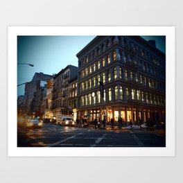 Broadway and Broome Art Print