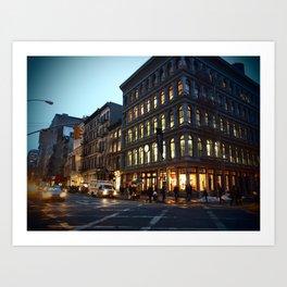 Broadway and Broome Art Print