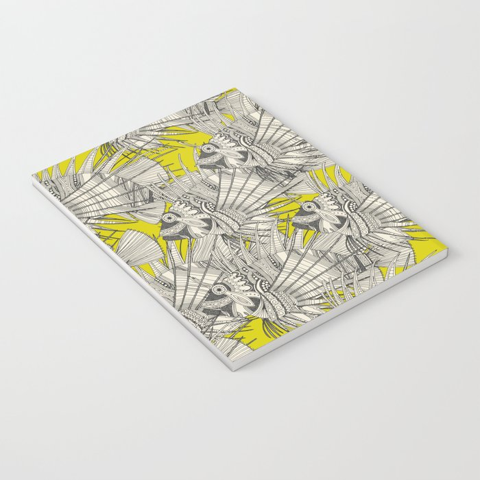fish mirage chartreuse Notebook