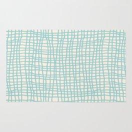 Blue Scribbles Pattern 06 Rug