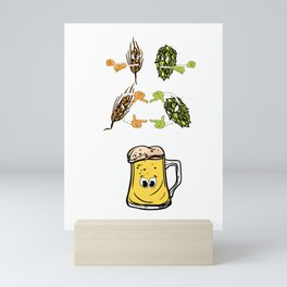 Beer fusion hop malt Anime Funny Gift Mini Art Print
