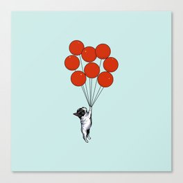 I Believe I Can Fly French Bulldog Canvas Print