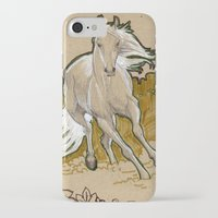 mucha iPhone & iPod Cases featuring  Mucha Horse by emilyszalay