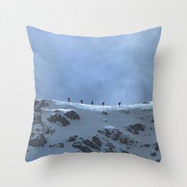 Ben Nevis Climb Throw Pillow