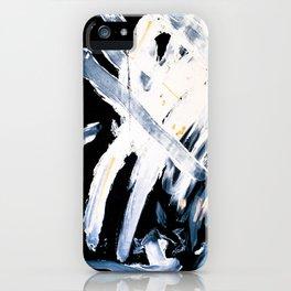 Wind on black paper iPhone Case
