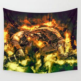 Fight Night Wall Tapestry