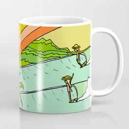 Surf Paradise Rainbow of Happiness Coffee Mug
