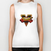 street fighter Biker Tanks featuring street fighter 5 by Hisham Al Riyami