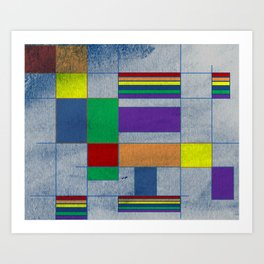 Mid-Century Modern Art - Rainbow Pride 1.0 Art Print