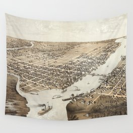 Green Bay - Wisconsin - 1867 Wall Tapestry
