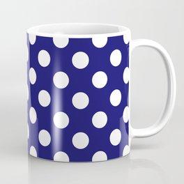 Navy Dots Coffee Mug