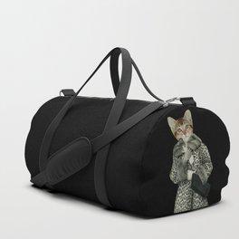 Kitten Dressed as Cat Duffle Bag
