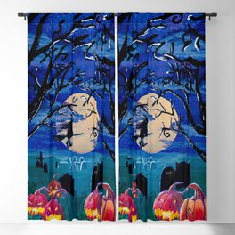 Spooky night Blackout Curtain