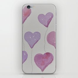 pink purple balloons iPhone Skin