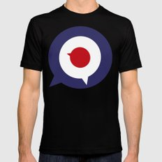 Mod thoughts Mens Fitted Tee Black MEDIUM