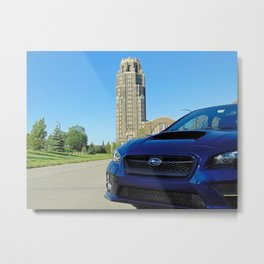 Subie at the terminal Metal Print
