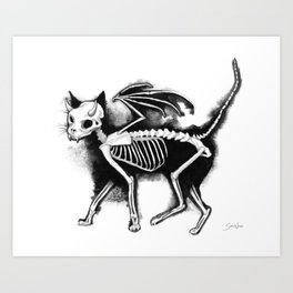 Devil Kitty Art Print